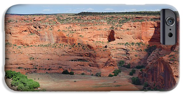 White House iPhone Cases - Canyon De Chelly near White House Ruins iPhone Case by Christine Till