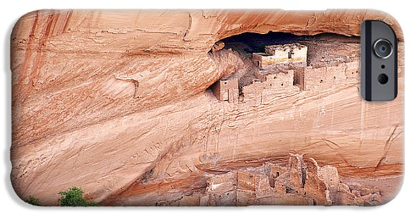 White House iPhone Cases - Canyon de Chelly White House Ruins iPhone Case by Christine Till