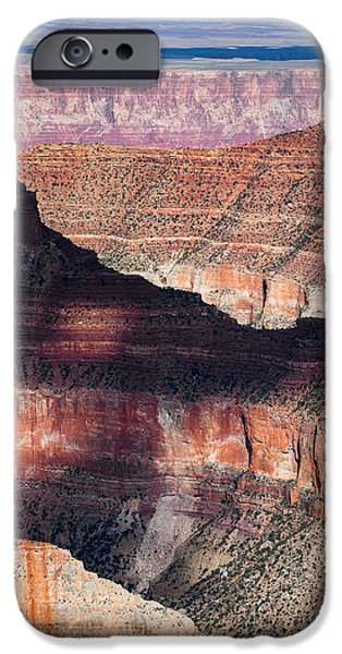 Grand Canyon Photographs iPhone Cases - Canyon Layers iPhone Case by Dave Bowman