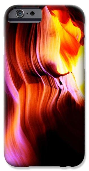 Canyon Light Curves - Canyon Abstract iPhone Case by Aidan Moran