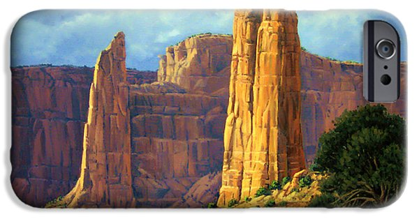 Chelly iPhone Cases - Canyon Light iPhone Case by Randy Follis