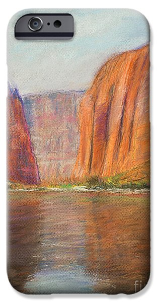 Grand Canyon Pastels iPhone Cases - Canyon River Passage iPhone Case by Kate Sumners