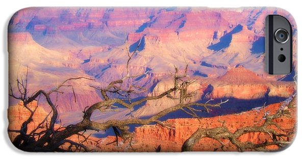 Burned Clay iPhone Cases - Canyon Shadows iPhone Case by Janice Sakry