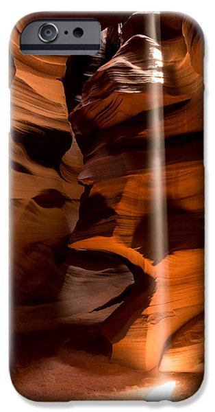 Canyon Sunbeam 1 iPhone Case by Domenik Studer