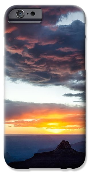 Grand Canyon Photographs iPhone Cases - Canyon Sunset iPhone Case by Dave Bowman