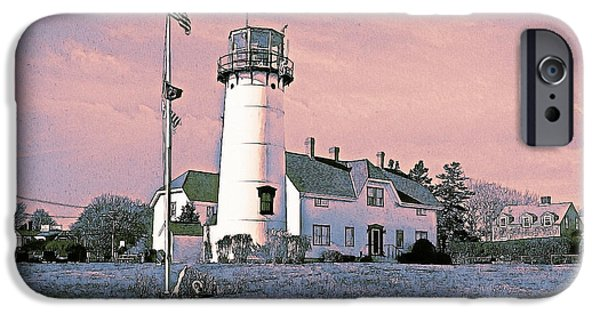 Chatham iPhone Cases - Cape Cod Americana Chatham Light iPhone Case by Constantine Gregory