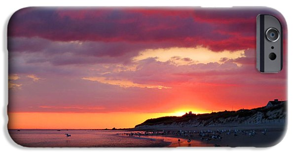 East Dennis Ma iPhone Cases - Cape Cod Bay at Sunrise iPhone Case by Dianne Cowen