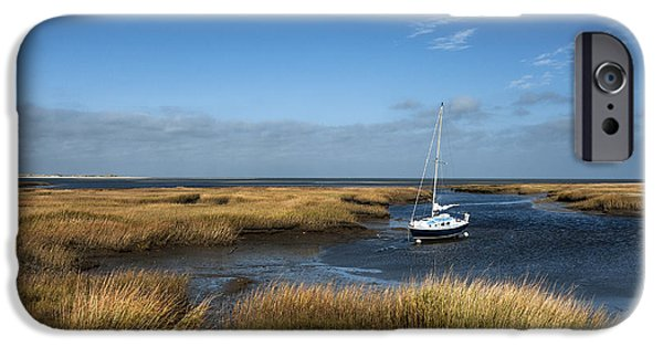 Salt Marsh. New England iPhone Cases - Cape Cod Bay iPhone Case by John Greim