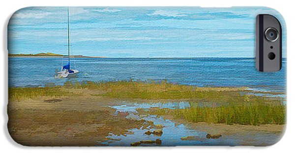 Cape Cod Mixed Media iPhone Cases - Cape Cod Bay iPhone Case by Michael Petrizzo
