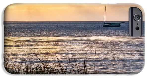Cape Cod iPhone Cases - Cape Cod Bay Square iPhone Case by Bill  Wakeley