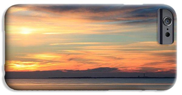 Massachusetts Coast iPhone Cases - Cape Cod Bay Sunset iPhone Case by John Burk