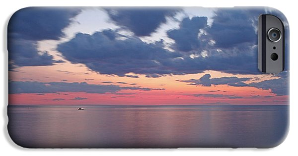 Harbor Sesuit Harbor iPhone Cases - Cape Cod Bay Sunset iPhone Case by Juergen Roth
