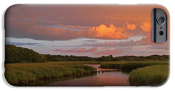 Storm Clouds Cape Cod iPhone Cases - Cape Cod Bells Neck  iPhone Case by Juergen Roth