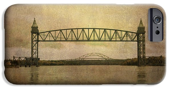 Cape Cod iPhone Cases - Cape Cod Canal and Bridges iPhone Case by David Gordon