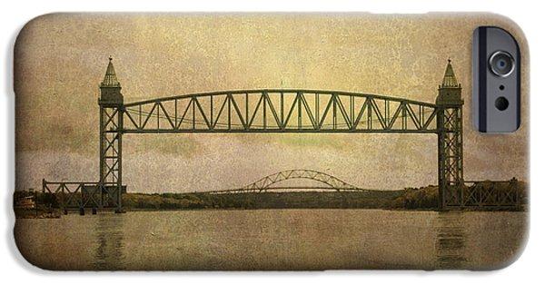Bay Bridge iPhone Cases - Cape Cod Canal and Bridges iPhone Case by Dave Gordon