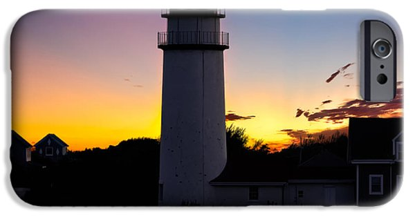 Cape Cod Lighthouse iPhone Cases - Cape Cod Light Square iPhone Case by Bill  Wakeley