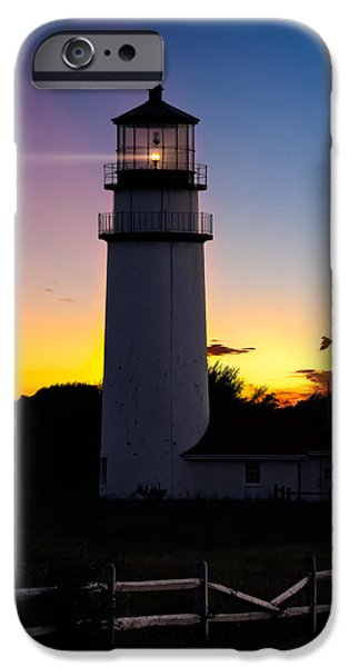 Cape Cod Light Square iPhone Case by Bill  Wakeley