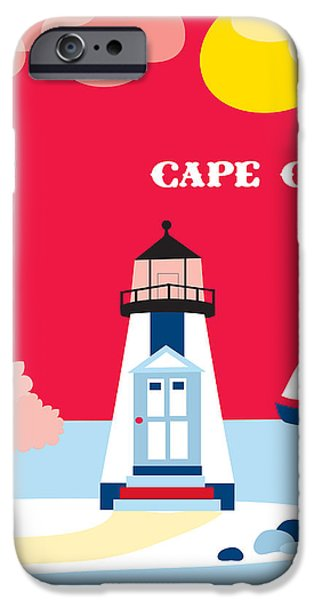 Cape Cod iPhone Cases - Cape Cod Maine Skyline iPhone Case by Karen Young