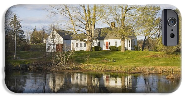 House iPhone Cases - Cape Cod Style House Bristol Maine iPhone Case by Keith Webber Jr
