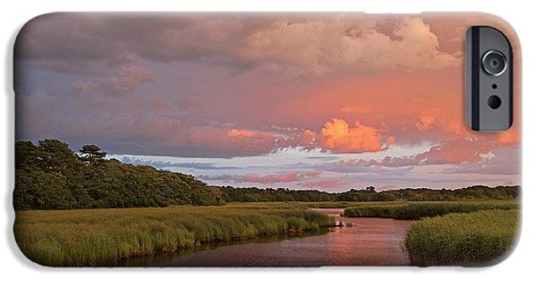 Storm Clouds Cape Cod iPhone Cases - Cape Cod Summer Storm iPhone Case by Juergen Roth