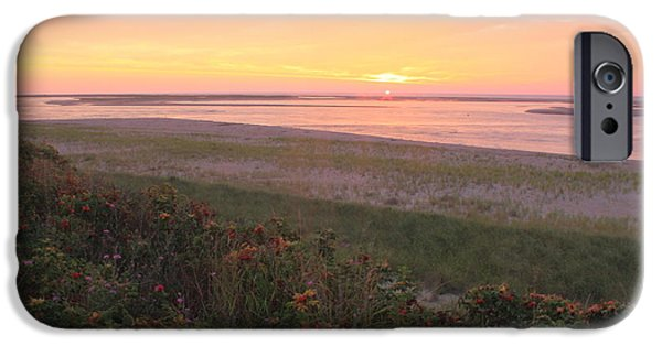 Chatham iPhone Cases - Cape Cod Sunrise at Lighthouse Beach iPhone Case by John Burk