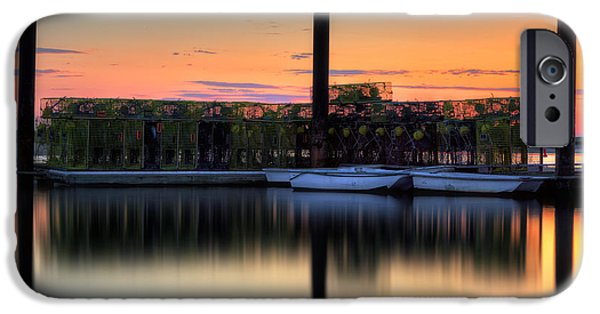 Cape Cod iPhone Cases - Cape Cod Sunset Pamet Harbor iPhone Case by Bill  Wakeley