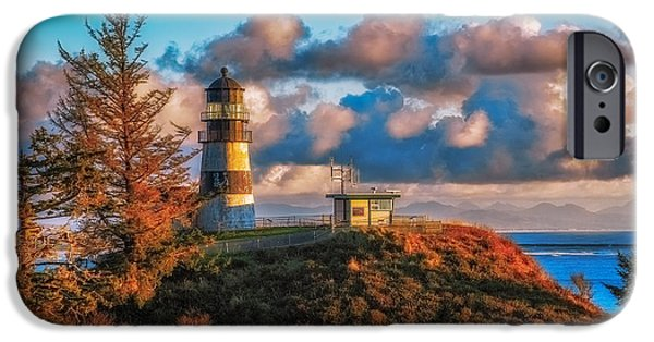 Cape Disappointment iPhone Cases - Cape Disappointment Light House iPhone Case by James Heckt