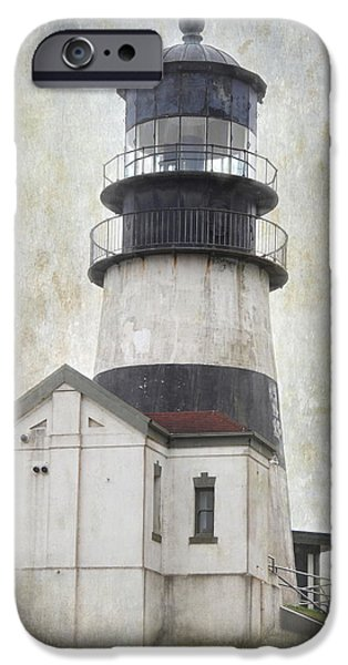 Cape Disappointment iPhone Cases - Cape Disappointment Lighthouse iPhone Case by Angie Vogel