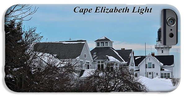 Winter In Maine iPhone Cases - Cape Elizabeth_9802a iPhone Case by Joseph Marquis