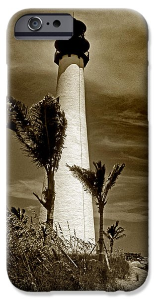 CAPE FLORIDA LIGHTHOUSE iPhone Case by Skip Willits