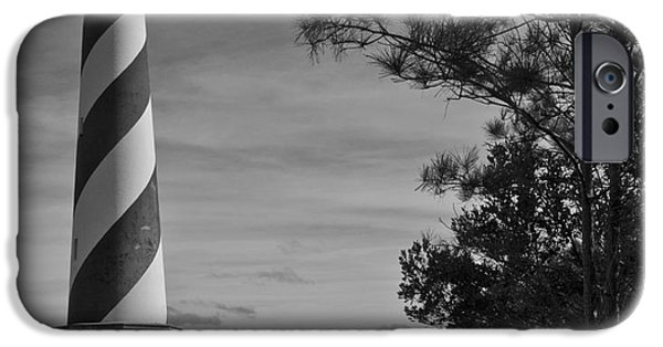 Lighthouse iPhone Cases - Cape Hatteras Lighthouse iPhone Case by Debra Johnson