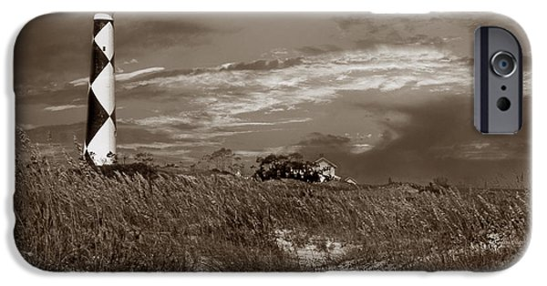 Cape Lookout iPhone Cases - Cape Lookout In Sepia iPhone Case by Skip Willits