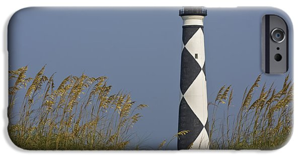Cape Lookout iPhone Cases - Cape Lookout Lighthouse iPhone Case by Bob Decker