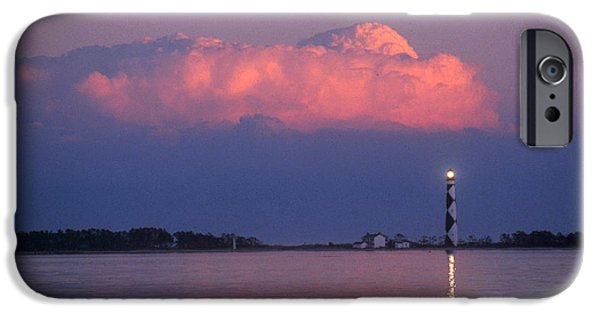 Cape Lookout iPhone Cases - Cape Lookout Lighthouse iPhone Case by Bruce Roberts