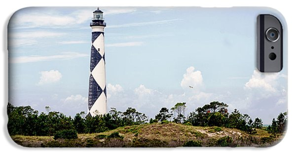 Cape Lookout iPhone Cases - Cape Lookout Lighthouse iPhone Case by Nomad Art And  Design