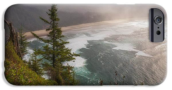 State Parks In Oregon iPhone Cases - Cape Lookout Vista iPhone Case by Mary Angelini