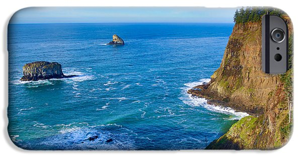 Ocean Tapestries - Textiles iPhone Cases - Cape Meares View iPhone Case by Dennis Bucklin