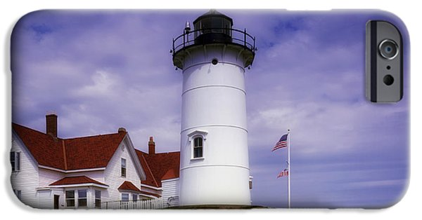 Nubble Lighthouse iPhone Cases - Cape Neddick Light in Maine iPhone Case by Mountain Dreams