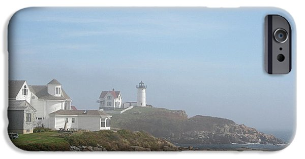 Nubble Lighthouse iPhone Cases - Cape Neddick Lighthouse III iPhone Case by Christiane Schulze Art And Photography