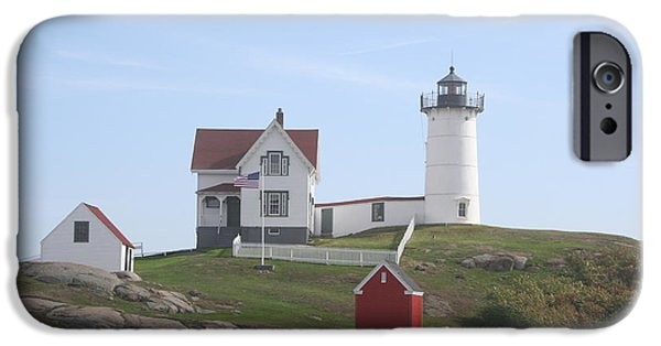 Cape Neddick Lighthouse iPhone Cases - Cape Neddick Lighthouse - ME iPhone Case by Christiane Schulze Art And Photography