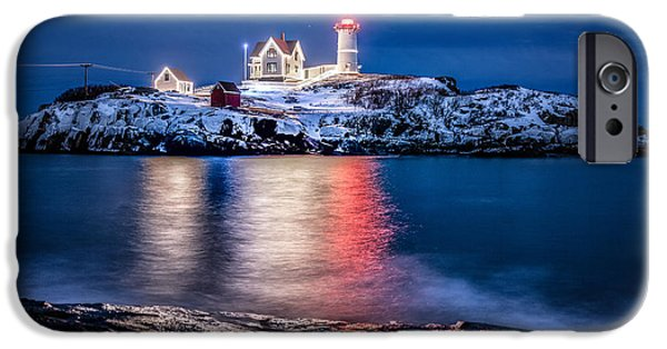 Nubble Lighthouse iPhone Cases - Cape Neddick Lighthouse iPhone Case by Robert Clifford