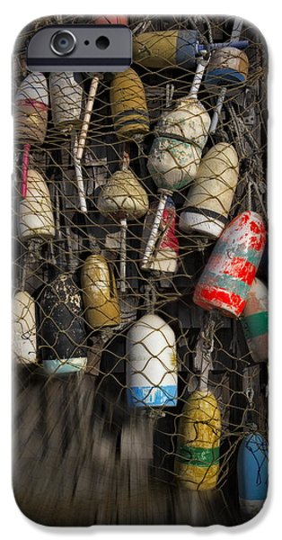 Scenery iPhone Cases - Cape Neddick Lobster Buoys iPhone Case by Susan Candelario