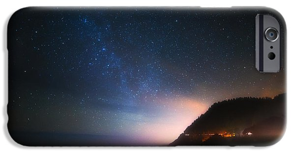 Pacific Ocean Prints iPhone Cases - Cape Perpetua Celestial Skies iPhone Case by Darren  White