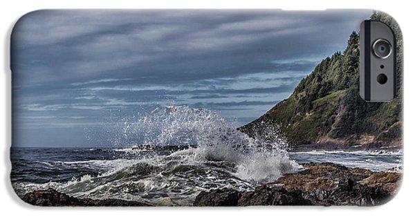 Recently Sold -  - Fury iPhone Cases - Cape Perpetua Waves D9259 iPhone Case by Wes and Dotty Weber