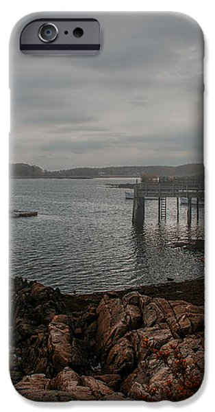 Cape Porpoise Fog Rolls In iPhone Case by Bob Orsillo