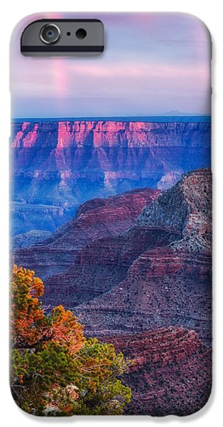 Grand Canyon iPhone Cases - Cape Royal Rainbow over the South Rim - Grand Canyon National Park Arizona iPhone Case by Silvio Ligutti