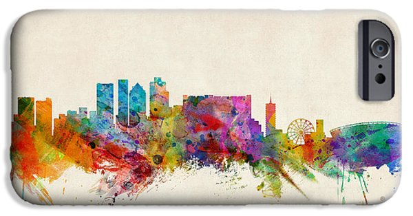 Cape Town iPhone Cases - Cape Town South Africa Skyline iPhone Case by Michael Tompsett