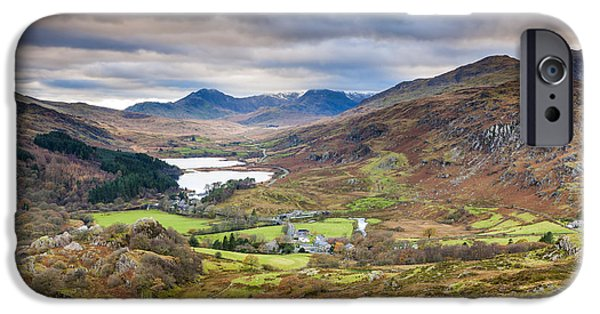 Park Scene iPhone Cases - Capel Curig iPhone Case by Sebastian Wasek