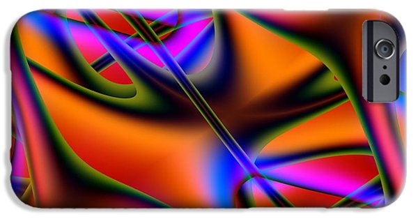 Abstract Forms iPhone Cases - Capillary iPhone Case by Solomon Barroa