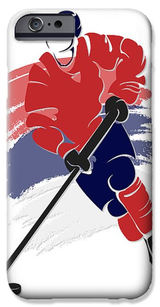 Capital iPhone Cases - Capitals Shadow Player2 iPhone Case by Joe Hamilton